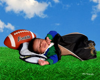 football lying on grass waiting for kick